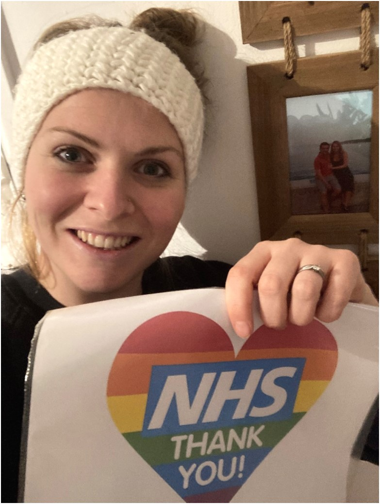 """""""Thank you NHS"""" – one of the photos from my early morning/late night sessions running in Petersfield for our local community."""